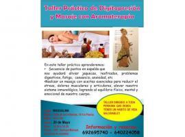 Taller practico de digitopresion y masaje con aromaterapia