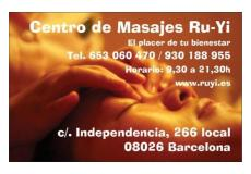Centro de masajes tradicionales chinos Ruyi en Barcelona