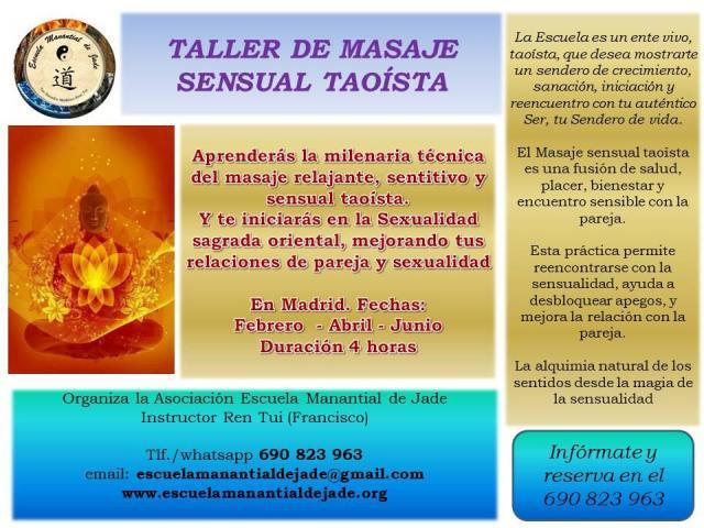 Taller de Masaje sensual taoísta